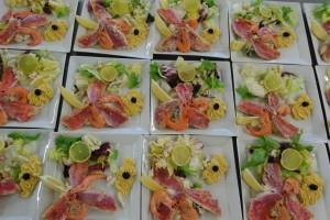Salade de rougets traiteur tarn viaule